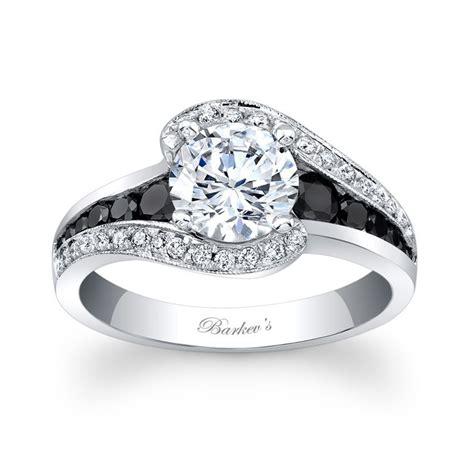 Black Engagement Rings by Barkev S Modern Black Engagement Ring 7898lbk