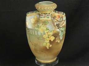 Antique Japanese Vase Antique Unusual Morimura Bros Nippon Raised Moriage