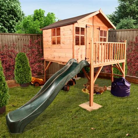 wooden playhouse with swing and slide mad dash lollipop junior tower xtra wooden playhouse