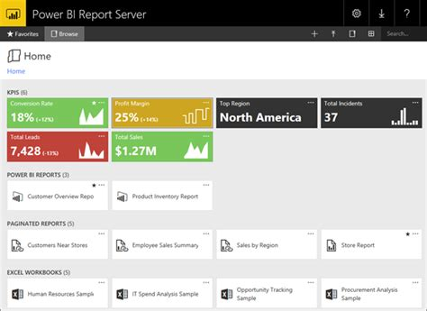 Microsoft Web Portal Navigating The Power Bi Report Server Web Portal