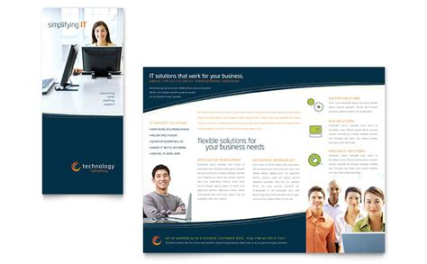 simple tri fold brochure template free phlet template word publisher templates
