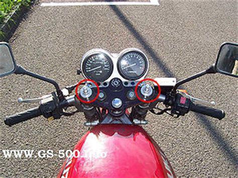 Motorrad Gabel Gestaucht by Federvorspannung Das Gs 500 Wiki Www Gs 500 Info