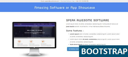 Free Bootstrap Soft Showcase Responsive Template Bootstrap Terms And Conditions Template