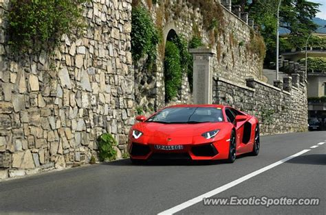 Italy Lamborghini by Lamborghini Aventador Spotted In Como Italy On 05 22 2016