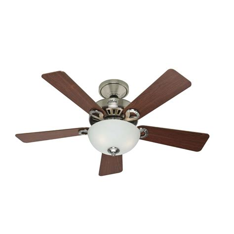 shop 44 in 5 minute brushed nickel ceiling fan with
