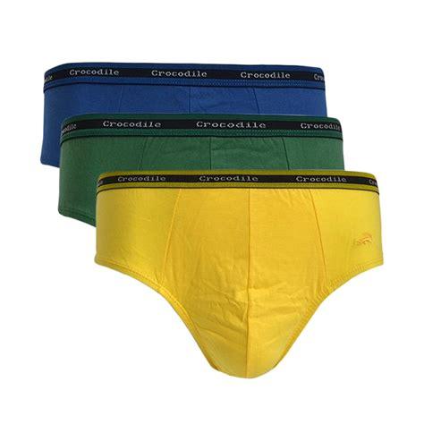Celana Dalam Cowok Crocodile 521 240 jual crocodile 521 241 briefs celana dalam pria multicolor 3 pcs harga