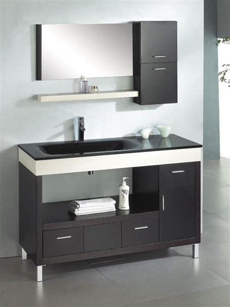 Modern Bathroom Vanities Sink Ariel Z W002 Ceasar 55 Modern Bathroom Vanity Modern