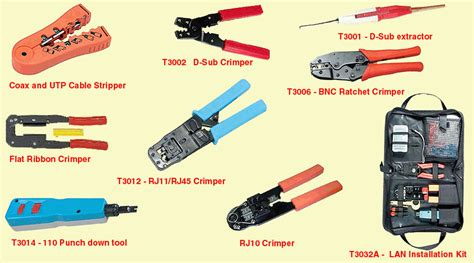 network tools network installation hardware crimpers strippers tool kits