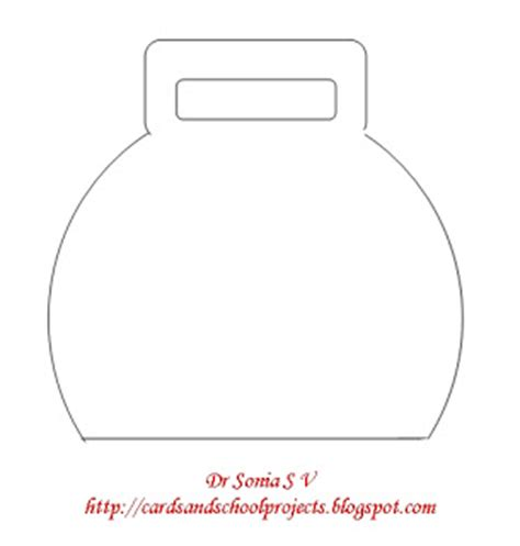 shaped card template cards crafts projects bag shaped card and template