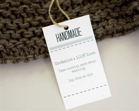 Handmade Tags For Knitting - grab these labels to go with your gift knits knitting