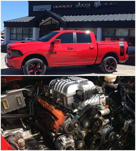 ram hellcat 707 hp hellcat powered 2016 ram 1500 built in canada