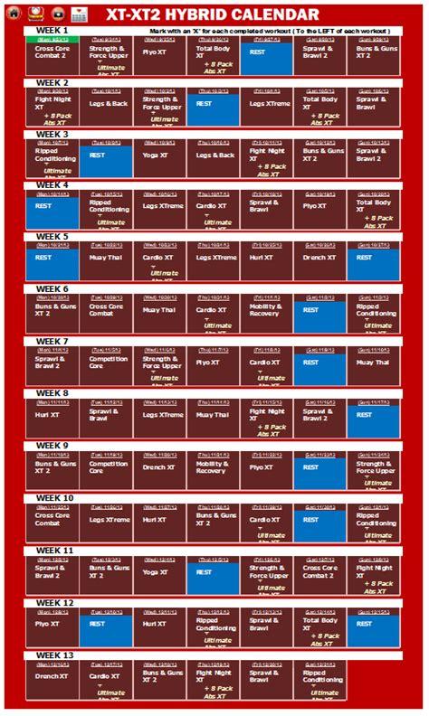 printable tapout xt calendar tapout xt2 workout calendar search results calendar 2015