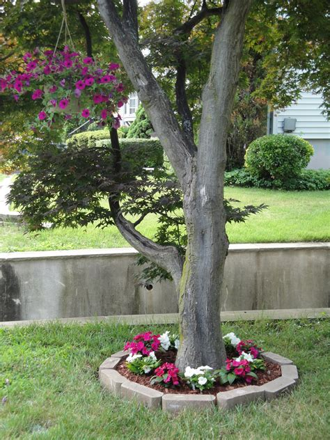 flower beds around trees fix it friday tree flower bed rainy day saver