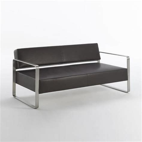 Steel Frame Sofa by Two Seater Sofa On A Metal Frame Domino Matteograssi
