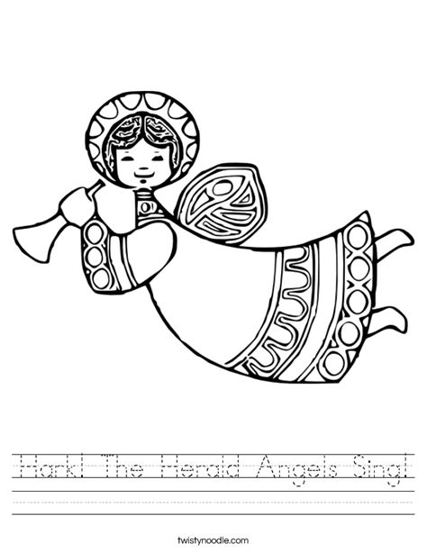 coloring pages angels singing hark the herald angels sing worksheet twisty noodle