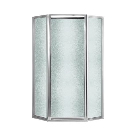 Swanstone Shower Doors Shop Swanstone 38 In To 38 In Framed Polished Chrome Hinged Shower Door At Lowes