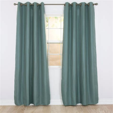 polyester blackout curtains lavish home blackout linen look teal polyester blackout