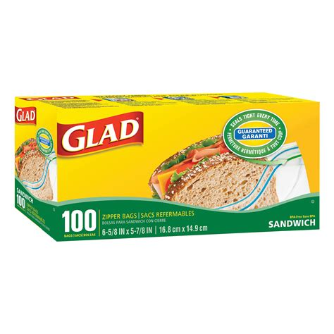 glad zipper sandwich bags box of 100 grand