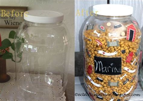 decoupage on plastic containers repurposed plastic pretzel containers to pet food