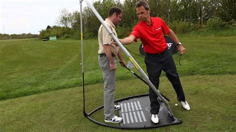 golf club swing trainer swing plane setting with planeswing golf training system
