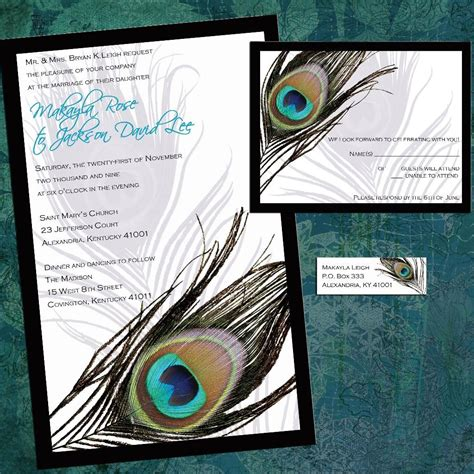 Peacock Wedding Invitations by Peacock Wedding Invitations Wedding Invitation By