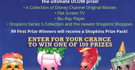 Disney Channel Sweepstakes Shopkins - coupons and freebies shopkins giveaway 100 winners win a shopkins 12 pack grand