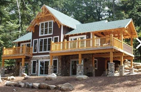 timber frame house picture home decor