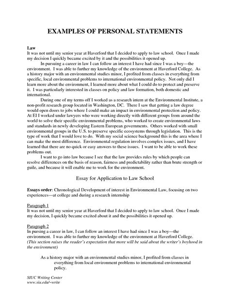 writing your personal statement template best template collection
