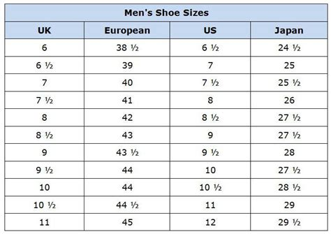 sizes shoes clothing size conversion charts