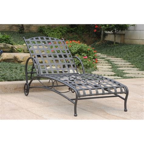 chaise ant iron chaise lounge in antique black 3571 sgl ant bk