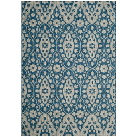 Safavieh Martha Stewart Gray Navy 9 Ft X 12 Ft Indoor Martha Stewart Outdoor Rugs