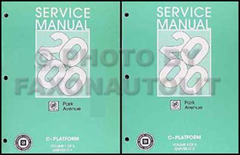 service manual 2000 buick park avenue factory security 2000 buick park avenue repair shop manual original 2 volume set