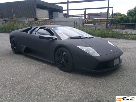 Matte Black Murcielago Wrapped in Canada   autoevolution