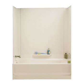 swanstone bathtub swanstone gn58 037 veritek 3 panel tub wall kit bone