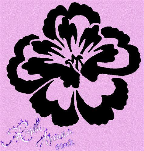 printable stencil designs flowers flower stencil 1 psd by ravenarcana on deviantart