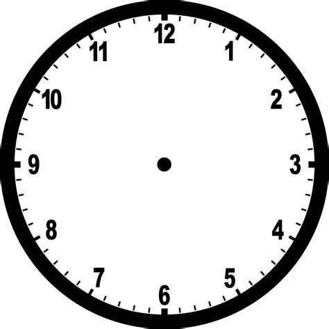printable clock face graphic blank clock clipart etc