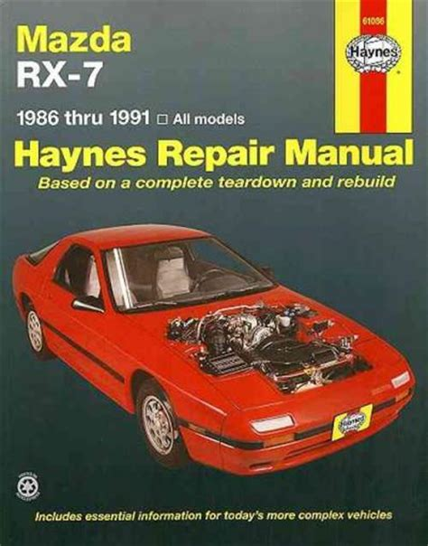 electronic stability control 1989 mazda rx 7 on board diagnostic system service manual book repair manual 1989 mazda rx 7 transmission control service manual