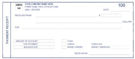 download a free cash receipt template for word or excel receipt