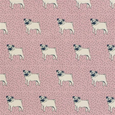 pug print material dotty pug printed canvas contemporary upholstery fabric south west by poppy