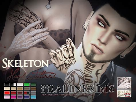 hand tattoo image download skeleton hand tattoos by pralinesims at tsr 187 sims 4 updates