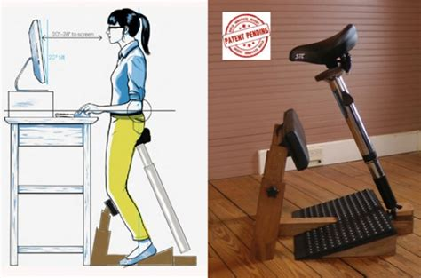 Standing Desk Chair by Standing Task Chair Lets You Sit While You Re Using Your