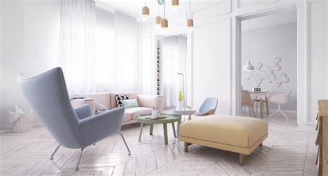scandinavian interior designs  pastel  lightly