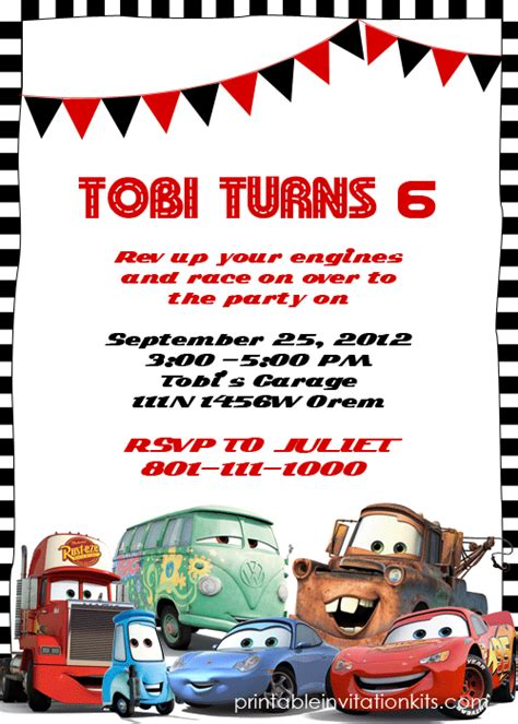 disney cars invitation templates cars birthday invitations on cars invitation