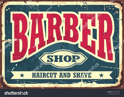 barber shop vector price list template haircut and shave retro barber barber shop vintage offer list template stock vector