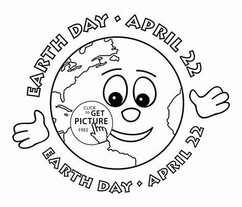 earth day coloring pages wallpapers earth cute face earth day april coloring page for kids