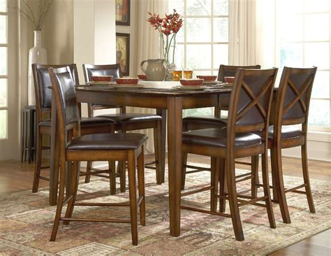 collection in tall dining table set with room best regarding stylish verona counter height dining room set counter height