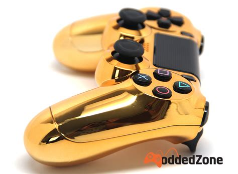 chrome gold quot chrome gold quot ps4 modded controller