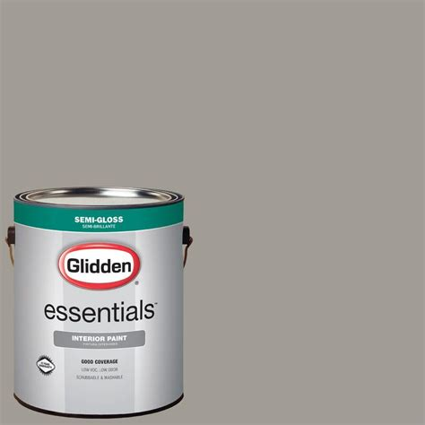 glidden 5 gal hdgcn53 old monterey grey low lustre glidden essentials 1 gal hdgcn53 old monterey grey semi