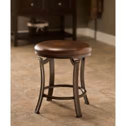 hastings antique bronze backless vanity stool hillsdale