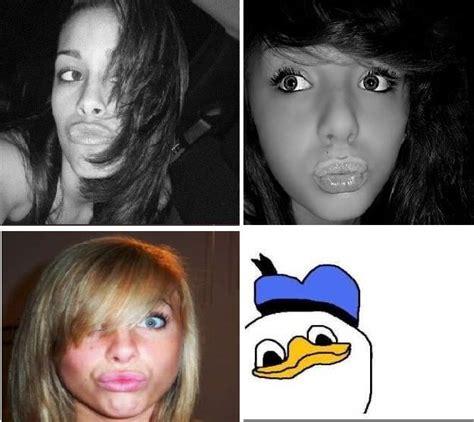 como hacer la boca del pato donal facebook se ha llenado de chicas con boca de pato